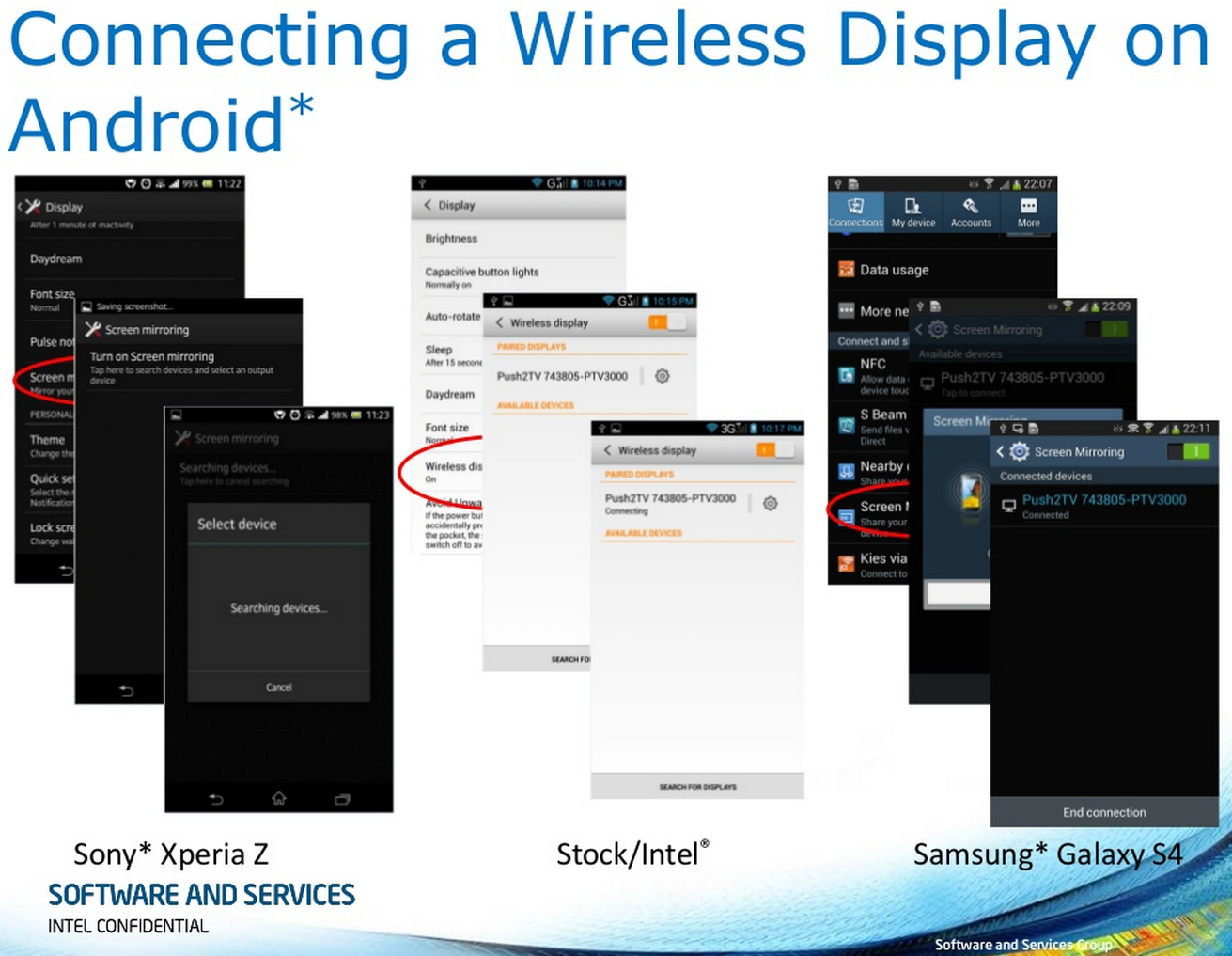 Connecting a Wireless Display on Android